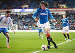 Belil Mohsni fails to keep the ball in play as he runs down the line