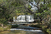 Mato Grosso, Brazil. Near Canarana, Crystal waterfall.