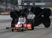 May 19, 2014; Commerce, GA, USA; NHRA top fuel driver Doug Kalitta during the Southern Nationals at Atlanta Dragway. Mandatory Credit: Mark J. Rebilas-USA TODAY Sports