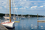 Sailboats in Boothbay Harbor, Boothbay, ME, USA