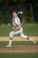 High Point-Thomasville HiToms relief pitcher Michael Doherty (14) (Northwestern) in action against the Statesville Owls at Finch Field on July 19, 2020 in Thomasville, NC. The HiToms defeated the Owls 21-0. (Brian Westerholt/Four Seam Images)