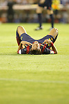 F.C. Barcelona´s Neymar Jr cries after losing the Spanish Copa del Rey `King´s Cup´ final soccer match between Real Madrid and F.C. Barcelona at Mestalla stadium, in Valencia, Spain. April 16, 2014. (ALTERPHOTOS/Victor Blanco)