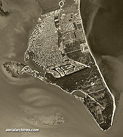aerial photograph Key Biscayne, Florida, 1961