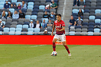SAINT PAUL, MN - MAY 15: Jose Martinez #3 of FC Dallas with the ball during a game between FC Dallas and Minnesota United FC at Allianz Field on May 15, 2021 in Saint Paul, Minnesota.