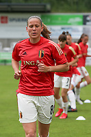 Lenie Onzia (8) of Belgium pictured during the warm up before a friendly female soccer game between the national teams of Luxemburg and Belgium , called the Red Flames  in a preparation towards the qualification for the  FIFA Women's World Cup , on saturday 12 th of June 2021  in Wiltz , Luxemburg . PHOTO SPORTPIX BE   SPP   SEVIL OKTEM