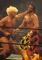 Randy Savage Macho Man Ric Flair 1995<br /> Photo By John Barrett/PHOTOlink
