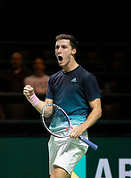 Rotterdam, The Netherlands, 15 Februari 2019, ABNAMRO World Tennis Tournament, Ahoy, quarter finals, doubles, Joe Salisbury (GBR), <br />