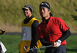 3 October 2008: Kevin Na watches a tee shot during the second round at the Turning Stone Golf Championship in Verona, New York.