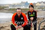 Risteard Ó Fuaráin and his Cai enjoying a puck around on Ballyheigue beach.