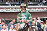 July 17, 2021: Wit #1, ridden by jockey Irad Ortiz Jr. wins the Sanford Stakes (Grade 3) for two-year-olds at Saratoga Race Course in Saratoga Springs, New York on July 17, 2021. Rob Simmons/Eclipse Sportswire/CSM