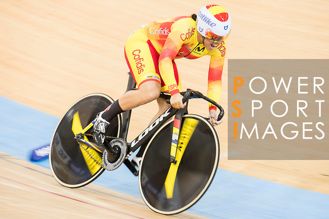 Tania Calvo Barbero of the Spain team competes in the Women's Sprint - Qualifying as part of the 2017 UCI Track Cycling World Championships on 13 April 2017, in Hong Kong Velodrome, Hong Kong, China. Photo by Chris Wong / Power Sport Images