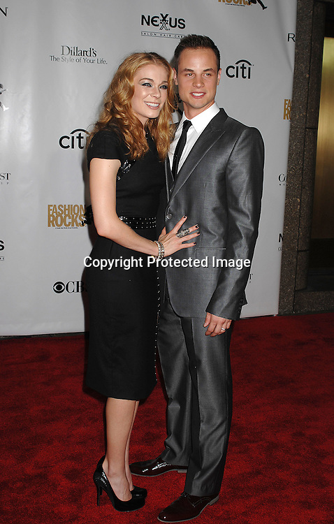 LeAnn Rimes and husband Dean..arriving for The Fourth Annual Fashion Rocks concert presented by Conde Nast Media Group on ..September 6, 2007 at Radio City Music Hall. ..Photo by Robin Platzer, Twin Images....212-935-0770