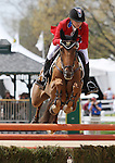 April 27, 2014: Manoir De Carneville and Sinead Halpin compete in Stadium Jumping at the Rolex Three Day Event in Lexington, KY at the Kentucky Horse Park.  Candice Chavez/ESW/CSM