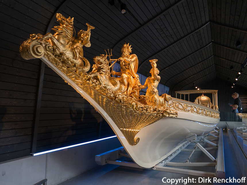 Königliche Barke im Scheepvaartmuseum, Kattenburgerplein 1, Amsterdam, Provinz Nordholland, Niederlande<br /> Royal bark, Scheepvaartmuseum, Kattenburgerplein 1, Amsterdam, Province North Holland, Netherlands
