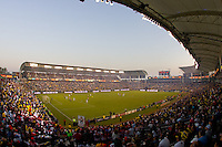 The Home Depot Center stadium is a full house during the MLS Playoffs. The LA Galaxy defeated Chivas USA 1-0 and win the playoff series during a MLS Western Conference playoff game at Home Depot Center stadium in Carson, California on Sunday November 1, 2009...