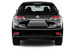 Straight rear view of a 2015 Lexus RX F Sport 5 Door SUV 2WD Rear View  stock images