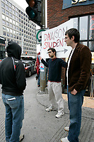 Dawson shooting in Montreal, Canada<br /> <br /> Photo : (c)  2006, Images Distribution