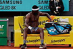 FrancesTiafoe during the Mutua Madrid Open Masters match on day six at Caja Magica in Madrid, Spain.May 09, 2019. (ALTERPHOTOS/A. Perez Meca)