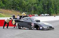 Jun. 18, 2011; Bristol, TN, USA: NHRA funny car driver Brian Thiel during qualifying for the Thunder Valley Nationals at Bristol Dragway. Mandatory Credit: Mark J. Rebilas-