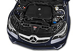 Car Stock2013 Mercedes Benz E Class 220 2 Door Coupe Engine high angle detail view