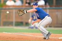 Pulaski Blue Jays first baseman Joshua Lex waits for a pick-off throw versus the Burlington Indians at Burlington Athletic Park in Burlington, NC, Saturday, July 29, 2006.  The Indians defeated the Blue Jays by the score of 8-4.