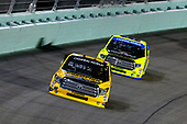 NASCAR Camping World Truck Series<br /> Ford EcoBoost 200<br /> Homestead-Miami Speedway, Homestead, FL USA<br /> Friday 17 November 2017<br /> Grant Enfinger, Champion Power Equipment Toyota Tundra and Matt Crafton, Black Label Bacon/Menards Toyota Tundra<br /> World Copyright: Russell LaBounty<br /> LAT Images
