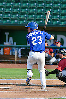 Brock Carpenter (23) of the Ogden Raptors at bat against the Idaho Falls Chukars in Pioneer League action at Lindquist Field on September 3, 2016 in Ogden, Utah. The Chukars defeated the Raptors 3-0. (Stephen Smith/Four Seam Images)