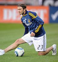 Los Angeles Galaxy midfielder David Beckham.    DC United tied  Los Angeles Galaxy 1-1, at RFK Stadium, Saturday April 9, 2011.