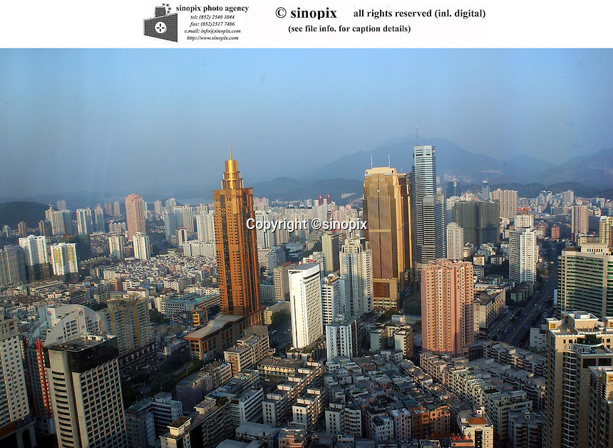 Cityscape of Shenzhen, China.<br />
