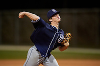 Hayde Key during the WWBA World Championship at the Roger Dean Complex on October 20, 2018 in Jupiter, Florida.  Hayde Key is a right handed pitcher from Missouri City, Texas who attends Ridge Point High School and is committed to Texas Tech.  (Mike Janes/Four Seam Images)