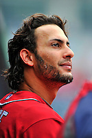 25 September 2011: Washington Nationals outfielder Michael Morse walks the dugout prior to a game against the Atlanta Braves at Nationals Park in Washington, DC. The Nationals shut out the Braves 3-0 to take the rubber match third game of their 3-game series - the Nationals' final home game for the 2011 season. Mandatory Credit: Ed Wolfstein Photo