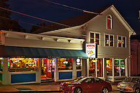 Mystic Pizza shop, Mystic, Connecticut, CT, USA