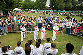 Kyu-Yo-Bu-Shin martial arts group peform at Westbourne Festival, Paddington, London.