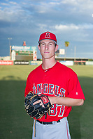 AZL Angels Nick Andress (37) poses for a photo before a game against the AZL Diamondbacks on August 20, 2017 at Diablo Stadium in Tempe, Arizona. AZL Angels defeated the AZL Diamondbacks 19-1. (Zachary Lucy/Four Seam Images)