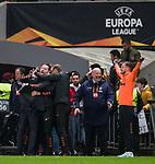 26.02.2020 SC Braga v Rangers: Rangers bench at full time