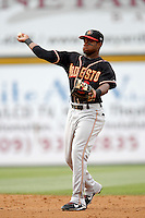 July 22 2007: Eric Young of the Modesto Nuts during game against the Rancho Cucamonga Quakes at The Epicenter in Rancho Cucamonga,CA.  Photo by Larry Goren/Four Seam Images