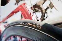 Team Katusha tire choice #28mm<br /> <br /> 115th Paris-Roubaix 2017 (1.UWT)<br /> One Day Race: Compiègne › Roubaix (257km)
