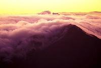 Cloud cover at Haleakala national park at sunrise