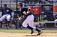August 24, 2009: Outfielder Slade Heathcott of the GCL Yankees at bat during a game at Yankees Training Complex in Tampa, FL.  Heathcott was selected in the 1st round (29th overall) of the 2009 MLB Draft.  The GCL Yankees are the Gulf Coast Rookie League affiliate of the New York Yankees.  Photo By Mark LoMoglio/Four Seam Images