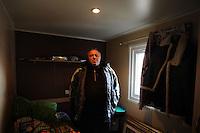 Terremoto del L'Aquila un' anno dopo. Earthquake L'Aquila one year after.Donatello Perilli nella sua stanza. Donatello Perilli in his room...