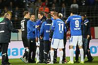 Siegesjubel Darmstadt - SV Darmstadt 98 vs. SV Werder Bremen, Stadion am Boellenfalltor