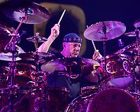 SUNRISE, FL - APRIL 26 :  Neil Peart of Rush performs at the BB&T Center on April 26, 2013 in Sunrise Florida.  <br /> <br /> People:  Neil Peart