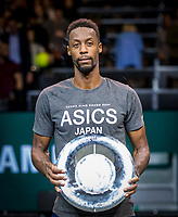 Rotterdam, The Netherlands, 16 Februari 2020, ABNAMRO World Tennis Tournament, Ahoy,<br /> Mens Single Final: Winner  Gaël Monfils (FRA)  with the trophy<br /> Photo: www.tennisimages.com