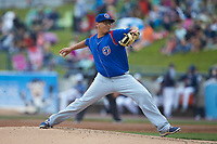 South Bend Cubs starting pitcher Javier Assad (30) in action against the West Michigan Whitecaps at Fifth Third Ballpark on June 10, 2018 in Comstock Park, Michigan. The Cubs defeated the Whitecaps 5-4.  (Brian Westerholt/Four Seam Images)