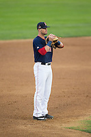 Salem Red Sox third baseman Jordan Betts (41) on defense against the Winston-Salem Dash at LewisGale Field at Salem Memorial Ballpark on May 14, 2015 in Salem, Virginia.  The Red Sox defeated the Dash 1-0.  (Brian Westerholt/Four Seam Images)