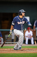 New Hampshire Fisher Cats first baseman Rowdy Tellez (34) at bat during a game against the Harrisburg Senators on June 2, 2016 at FNB Field in Harrisburg, Pennsylvania.  New Hampshire defeated Harrisburg 2-1.  (Mike Janes/Four Seam Images)