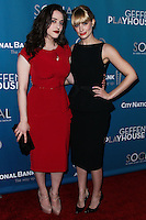 """WESTWOOD, LOS ANGELES, CA, USA - MARCH 22: Kat Dennings, Beth Behrs at the Geffen Playhouse's Annual """"Backstage At The Geffen"""" Gala held at Geffen Playhouse on March 22, 2014 in Westwood, Los Angeles, California, United States. (Photo by Xavier Collin/Celebrity Monitor)"""