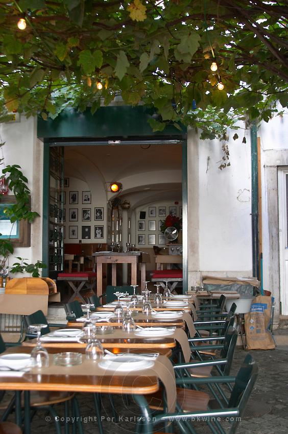 restaurant terrace alfama district lisbon portugal