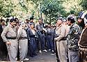 Iraq 1988 .Meeting  of the front of Kurdistan in Kwakurk.<br /> Irak 1988.Rencontre du front du Kurdistan a Kwakurk.