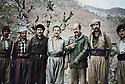 Iraq 1979  in Nawzang, 3rd and 4th from left, Adel Murad  and Kamal Khoshnaw with Iraj  Kashkok Kashkaei , one of the leader of Tudeh party of Iran, Salar Aziz of PUK, Jabar Abdullah, peshmerga de Nawshirwan Mustafa, Saman Farah, Jamal Sadullah Mandalawi <br /> ,Irak 1979  A Nawzang, 3eme et 4 eme a gauche, Adel Murad et Kamal Khoshnaw avec Iraj Kashkok Kashkaei, un des dirigeant du parti Tudeh d'Iran, Salar Aziz de l' UPK...Jabar